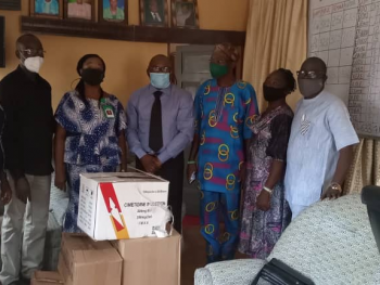 Presentation of drugs to the Management of Ekiti State NYSC